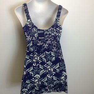 CAbi Tops - CAbi #459 Geometric Batik Tank Tunic Medium